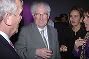 Matthew Evans, Seamus Heaney and Caroline Michel. The Almeida Theatre Charity Christmas Gala, to raise funds for the theatre, at the Victoria Miro Gallery, London.  1 December  2005. ONE TIME USE ONLY - DO NOT ARCHIVE  © Copyright Photograph by Dafydd Jones 66 Stockwell Park Rd. London SW9 0DA Tel 020 7733 0108 www.dafjones.com