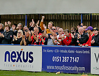 Football - 2021 / 2022 Emirates FA Cup - First Round Qualifying - Bootle vs. FC United of Manchester - Berry Street Garage Stadium - Saturday 4th September 2021<br /> <br /> A small but voiciferous travelling support for FC United, at the Berry Street Garage Stadium.<br /> <br /> COLORSPORT/Alan Martin