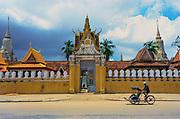 Rickshaw Passing the Royal Palace in Phnom Penh © Jeremy Horner