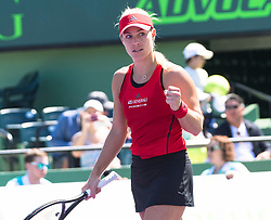 March 22, 2018 - Key Biscayne, FL, U.S. - KEY BISCAYNE, FL - MARCH 22: Angelique Kerber (GER) celebrating here on March 22, 2018, at the Tennis Center at Crandon Park in Key Biscayne, FL. (Photo by Andrew Patron/Icon Sportswire) (Credit Image: © Andrew Patron/Icon SMI via ZUMA Press)