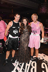 British fine jewellery brand Boodles welcomed guests for the 2013 Boodles Boxing Ball in aid of Starlight Children's Foundation held at the Grosvenor House Hotel, Park Lane, London on 21st September 2013.<br /> Picture Shows:-Left to right, FRASER WATSO, KELLY BROOK and OWAIN WALBYOFF.<br /> <br /> Press release - https://www.dropbox.com/s/a3pygc5img14bxk/BBB_2013_press_release.pdf<br /> <br /> For Quotes  on the event call James Amos on 07747 615 003 or email jamesamos@boodles.com. For all other press enquiries please contact luciaroberts@boodles.com (0788 038 3003)