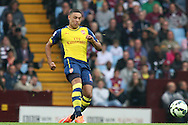 Alex Oxlade-Chamberlain of Arsenal in action. Barclays Premier league match, Aston Villa v Arsenal at Villa Park in Birmingham on Saturday 20th Sept 2014<br /> pic by Mark Hawkins, Andrew Orchard sports photography.