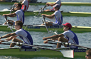Munich, GERMANY 2001 FISA World cup Regatta. GBR LM2X Tom Middleton (L) and Tim Male, [Mandatory Credit Peter Spurrier Intersport Images] 20010714 FISA World Cup. Munich, GERMANY