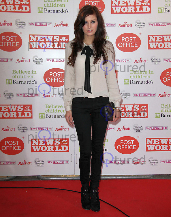 Jade Williams; Sunday Girl News Of The World Children's Champions, Grosvenor House Hotel,London, UK, 30 March 2011:  Contact: Rich@Piqtured.com +44(0)7941 079620 (Picture by Richard Goldschmidt)
