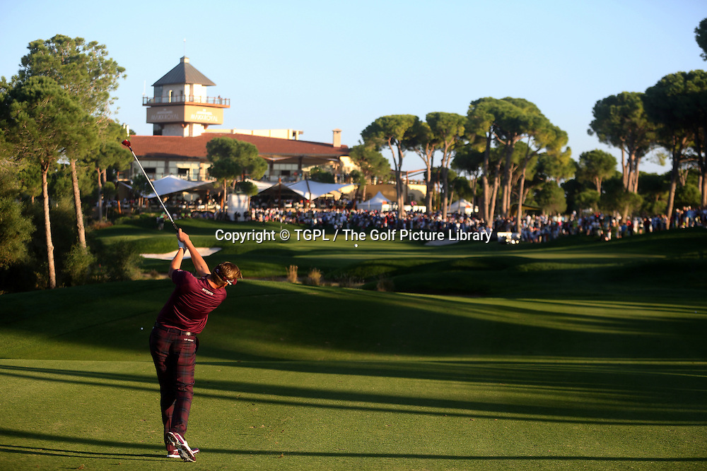 Ian POULTER (ENG) 2nd shot to 18th during third round Turkish Airlines Open by Ministry of Culture and Tourism 2013,Montgomerie Course at Maxx Royal,Belek,Antalya,Turkey.