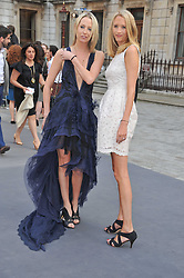 Left to right, sisters the HON.SOPHIA HESKETH and the HON.FLORA HESKETH at the Royal Academy of Arts Summer Exhibition Preview Party at Burlington House, Piccadilly, London on 2nd June 2011.