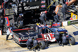 March 23, 2019 - Martinsville, VA, U.S. - MARTINSVILLE, VA - MARCH 23:  Kyle Busch, KBM, Toyota Tundra Cessna (51) pits during the 21st running of the NASCAR Gander Outdoors Truck Series TruNorth Global 250 race on March 23, 2019 at the Martinsville Speedway in Martinsville, VA.  (Photo by David John Griffin/Icon Sportswire) (Credit Image: © David J. Griffin/Icon SMI via ZUMA Press)