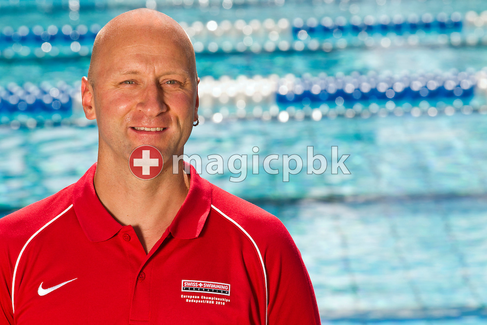LIMM's headcoach Dirk REINICKE of Germany (Swiss Swimming coach for the European Swimming Championships 2010) is pictured during a photo session in Tenero, Switzerland, Friday, July 30, 2010. (Photo by Patrick B. Kraemer / MAGICPBK)