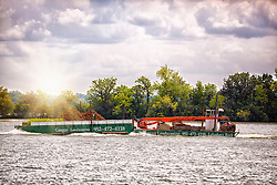 Ever wonder how a landscaper gets materials to your house on the lake? By boat of coarse!