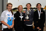 Nottingham, GREAT BRITAIN,  J15G4x+  Gold Medalist, Molesey BC, A crew,  with cox missing [ L.BUTT,  H. SNELLING, E. ROBERTS, C. HALLWOOD and K. EMERTON]  at the 2008 National Schools Regatta, ,  at Holme Pierrepont, Nottingham, ENGLAND,  on Saturday,  24/05/2008.  [Mandatory Credit:  Peter Spurrier/Intersport Images]
