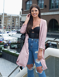 Cast of Geordie Shore 'Land of Hope Geordie'  series 15 take the Shag Pad on Tour on Wednesday 16th August 2017 to celebrate the launch of series, at  St Katherine's Way, London. <br /><br />16 August 2017.<br /><br />Please byline: Vantagenews.com