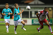 Forest Green Rovers Christian Doidge(9) runs forward during the EFL Sky Bet League 2 match between Forest Green Rovers and Stevenage at the New Lawn, Forest Green, United Kingdom on 21 August 2018.