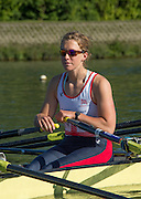 Caversham, United Kingdom,  GBR W4X, Vicky MEYER-LAKER, Stretching, GBR Rowing, European Championships, team announcement, of crews competing in Belgrade, in May. Venue, GBR rowing training base, near Reading,<br /> 08:37:06  14/05/2014   14/05/2014  <br /> [Mandatory Credit: Peter Spurrier/Intersport<br /> Images]