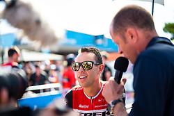 January 20, 2019 - Adelaide, South Australia, Australia - Richie Porte (centre), Team Trek Segafredo, at race start, Stage 6 of the Tour Down Under, Australia on the 20 of January 2019  (Credit Image: © Gary Francis/ZUMA Wire)