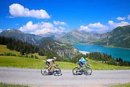Alejandro Valverde (ESP - Movistar) and Soren Kragh Andersen (DEN - Team Sunweb) in the pursuit of the leader Geraint Thomas during the 105th Tour de France 2018, Stage 11, Alberville - La Rosiere Espace Bernardo (108,5 km) on July 18th, 2018 - Photo George Deswijzen / Pro Shots / ProSportsImages / DPPI
