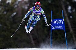 10.02.2011, Kandahar, Garmisch Partenkirchen, GER, FIS Alpin Ski WM 2011, GAP, Herren Abfahrtstraining, im Bild Andrej Jerman (SLO) takes to the air competing in the first men's downhill training run on the Kandahar race piste at the 2011 Alpine skiing World Championships, EXPA Pictures © 2011, PhotoCredit: EXPA/ M. Gunn