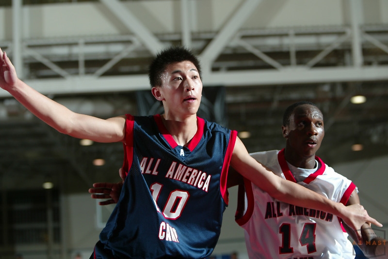 Liu Xiaoyu at the Nike All American basketball camp in Indianapolis,Wednesday, July 6, 2005. (Mandatory Credit: AJ Mast/Ronin Images)......***LOW RES FPO ONLY, HIGH RES AVLAIBLE OFFLINE***