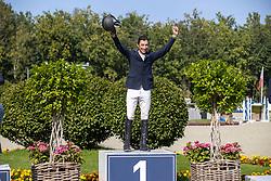 Podium 7 years, Arroyave Dayro, Vermeiren Dieter, Thomas Gilles<br /> Belgian Championship 7years old horses<br /> SenTower Park - Opglabbeek 2020<br /> © Hippo Foto - Dirk Caremans<br />  13/09/2020