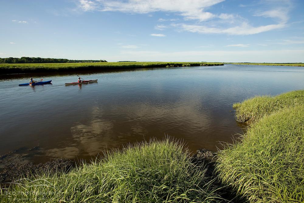 Kayaking in Plum Island Sounds Rowley Massachusetts USA