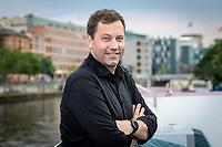 18 JUN 2020, BERLIN/GERMANY:<br /> Lars Klingbeil, SPD Generalsekretaer, Redaktionsschiff ThePioneer ONE auf der Spree<br /> IMAGE: 20200618-03-034