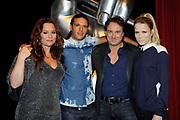 Perspresentatie van het vierde seizoen van The Voice of Holland in het Spant in Bussum.<br /> <br /> Op de foto:  de coaches Trijntje Oosterhuis , Ali B. , Marco Borsato en Ilse de Lange