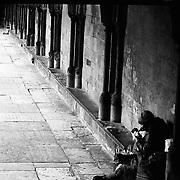 A dark corner within the Salisbury Cathedral, Salisbury, England.