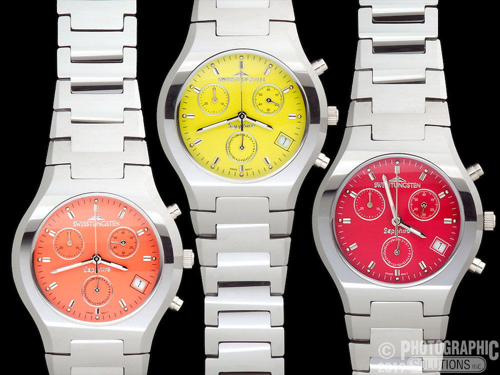 Watches and Jewelry are very difficult, it's like shooting a photo a very small, curved mirror. They reflect everything, and you must know how to mitigate those unwanted reflections