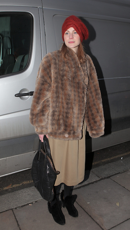 Street fashion during the AW 2012 London Fashion week. 19/02/2012 Matheu Petley/CatchlightMedia