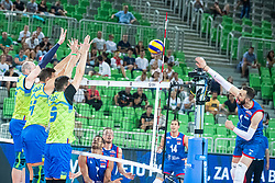 during friendly volleyball match between Slovenia and Serbia in Arena Stozice on 2nd of September, 2019, Ljubljana, Slovenia. Photo by Grega Valancic / Sportida