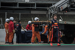 March 1, 2018 - Barcelona, Catalonia, Spain - MAX VERSTAPPEN (NED) is leaves the racing track in his Red Bull RB14 during day four of Formula One testing at Circuit de Catalunya (Credit Image: © Matthias Oesterle via ZUMA Wire)