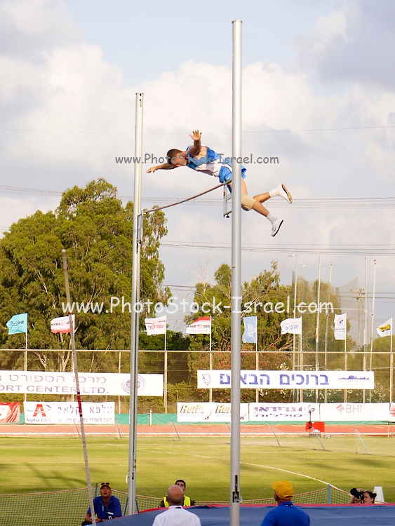 Israel, The Maccabiah an international Jewish athletic event similar to the Olympics held in Israel every four years. Aleksandr Averbukh final pole vault Jump July 2009