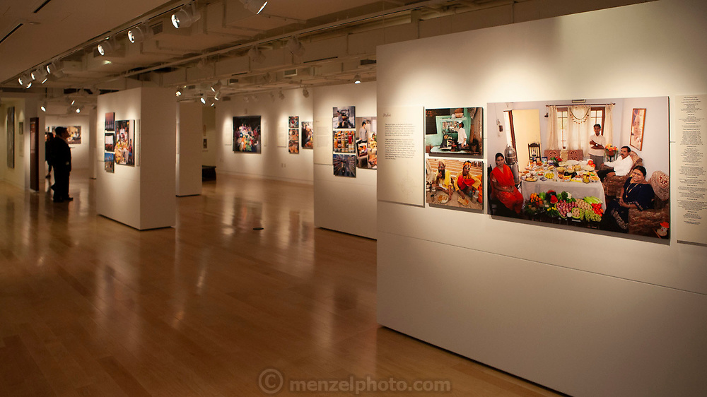 San Francisco, California. Hungry Planet photo exhibit at the Museum of the African Diaspora.