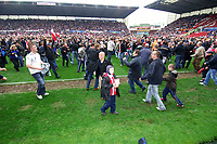 Britannia Stadium  Stoke v Leicester (0-0) Championship 04/05/2008<br /> Fans invade  the pitch as Stoke   are promoted to The Premier League  and Leicester are relegated to Divsision One<br /> Photo Roger Parker Fotosports International