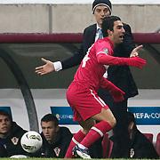 Turkey's Arda TURAN (F) during their UEFA EURO 2012 Play-off for Final Tournament First leg soccer match Turkey betwen Croatia at TT Arena in Istanbul Nüovember11, 2011. Photo by TURKPIX