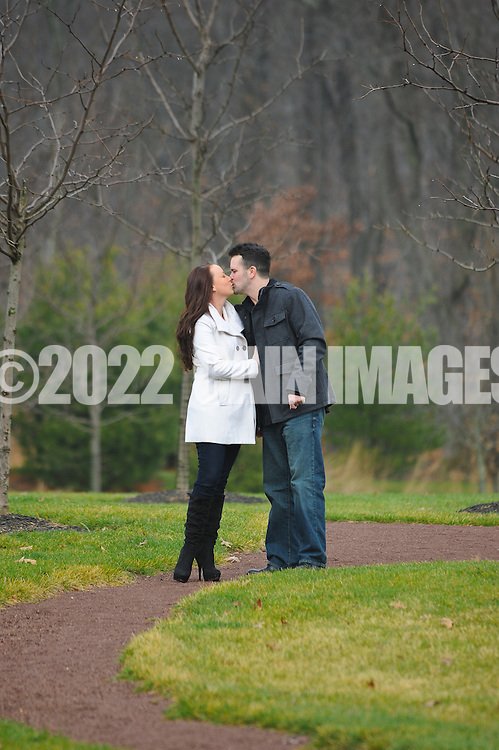 YARDLEY, PA - DECEMBER 5:  Jenn & Bill photographed December 5, 2011 in Yardley, Pennsylvania. (Photo by William Thomas Cain/cainimages.com)