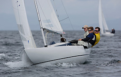 International Dragon Class Scottish Championships 2015.<br /> <br /> Day 1 racing in perfect conditions.<br /> <br /> GBR720, AIMEE, Julia Bailey, Royal Yacht Squadron\<br /> <br /> <br /> Credit Marc Turner