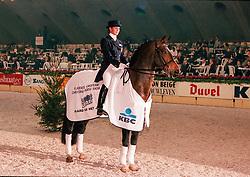 Smits Vicky, paard van het jaar, Illuster<br /> Jumping Mechelen 1998<br /> © Hippo Foto - Dirk Caremans<br /> 03/12/2020