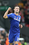 Gary Cahill of Chelsea  celebrates scoring the equalising goal  - Barclays Premier League - Liverpool vs Chelsea - Anfield Stadium - Liverpool - England - 8th November 2014  - Picture Simon Bellis/Sportimage