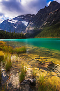 Mount Edith Cavell from Cavell Lake, Jasper National Park, Alberta Canada