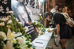 July 13, 2017 - Hong Kong, China - Residents of Hong Kong host a vigil service outside the Chinese Liason Office of Hong Kong after the death of Human Right Activist and Nobel Peace Prize Winner Liu Xiaobo. 13th July 2017. Liu Xiaobo has been in prison by the Chinese authority since 2008 for charges made against him for ''suspicion of inciting subversion of state power. (Credit Image: © Geovien So via ZUMA Wire)