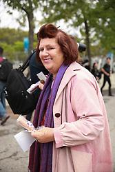 September 12, 2018 - New York, New York, United States - Suzy Menkes attends the Coach 1941 Runway Show during New York Fashion Week at Pier 94 on September 11, 2018 in New York City. (Credit Image: © Oleg Chebotarev/NurPhoto/ZUMA Press)