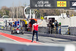February 18, 2019 - Barcelona, Catalonia, Spain - Kimi Raikkonen of Alfa Romeo Racing  during the winter test days at the Circuit de Catalunya in Montmelo (Catalonia), Spain, on February 18, 2019. (Credit Image: © Javier MartíNez De La Puente/NurPhoto via ZUMA Press)