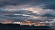 Cloud formations at sunrise over Jökulsárlón, Iceland