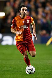 Galatasaray Midfielder Selcuk Inan (TUR) in action - Photo mandatory by-line: Rogan Thomson/JMP - 18/03/2014 - SPORT - FOOTBALL - Stamford Bridge, London - Chelsea v Galatasaray - UEFA Champions League Round of 16 Second leg.