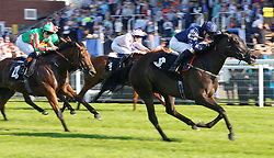 Island Cloud ridden by David Egan leads the field home to win The Thames Materials Ltd Apprentice Handicap Stakes Race run at Goodwood Racecourse, Chicester. PRESS ASSOCIATION Photo. Picture date: Friday August 25, 2017. See PA story RACING Goodwood. Photo credit should read: Julian Herbert/PA Wire.