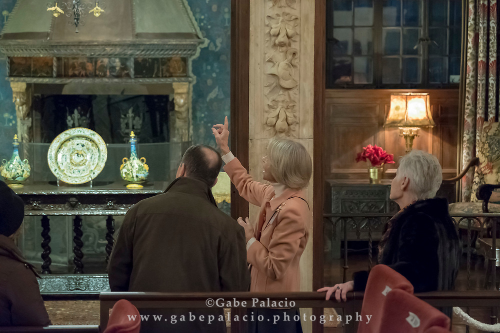 Self guided tours of the Rosen House at Caramoor in Katonah New York on December 16, 2017. <br /> (photo by Gabe Palacio)