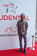Angki Purbandono, Indonesian Eye Contemporary Art Exhibition Reception, Saatchi Gallery. London. 9 September 2011. <br /> <br />  , -DO NOT ARCHIVE-© Copyright Photograph by Dafydd Jones. 248 Clapham Rd. London SW9 0PZ. Tel 0207 820 0771. www.dafjones.com.