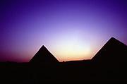 Pyramids at sunset, Giza.