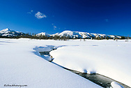 Indian Creek in winter in Yellowstone National Park in Wyoming