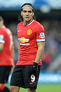 Radamel Falcao of Manchester United looks on. Barclays Premier league match, Queens Park Rangers v Manchester Utd at Loftus Road in London on Saturday 17th Jan 2015. pic by John Patrick Fletcher, Andrew Orchard sports photography.